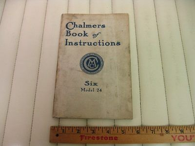 1914 CHALMERS 6-24 Car Owners Instruction Manual