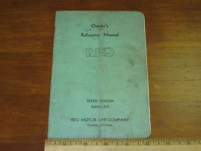 1935 REO Speed Wagon Model 335 Truck Owner's Manual