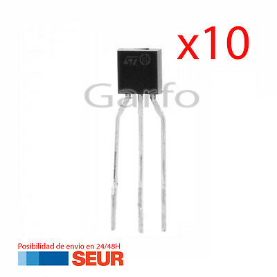10X Regulador de Tension L78L33 3,3V TO-92