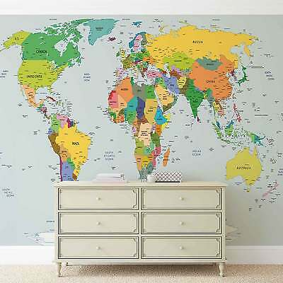 WALL MURAL World Map XXL PHOTO WALLPAPER (2644DC)