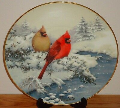"Lenox CARDINALS IN WINTER 10.5"" Collector's Plate Catherine McClung"