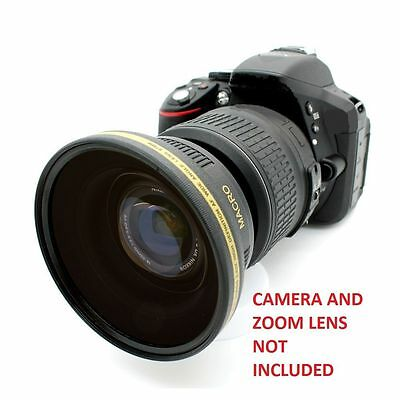 Nikon D7100 D3200 D5200 D5300 52MM 0.43x Soft Fisheye Wide Angle Macro Lens HD