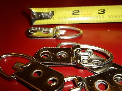 """100 Heavy Duty Triangle D Ring 2-Hole Picture Hanger 2-1/4"""" L 200 Screw"""