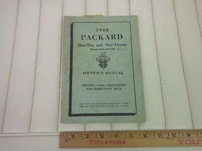 1940 PACKARD 110 & 120 Car Owners Manual Instruction Book