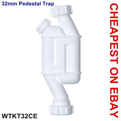 "32mm Straight Through Kidney Trap with Cleaning Eye 1¼"" Pedestal Trap for Basin"