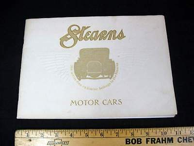 1909 1910 STEARNS Car Dealer Sales Brochure w/ Embossed Cover