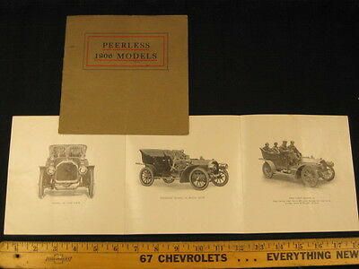 1906 PEERLESS Car Dealer Sales Brochure