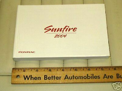 2004 PONTIAC SUNFIRE Car Owner's Manual - French