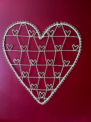 Large Cream Heart Wire Photo Card Holder Christmas Weddings Gift By Sass& Belle