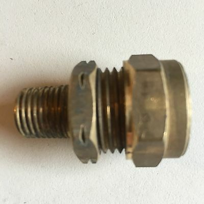 "WADE BRASS COMPRESSION FITTINGS - 15mm Copper To 1/4"" Bsp Male Taper Nuts Olives"