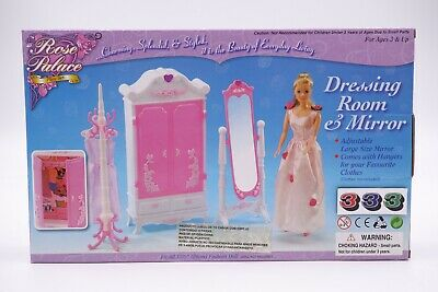 Gloria,Barbie Size Doll  Furniture/(2609) Rose Palace Dressing room & Mirror