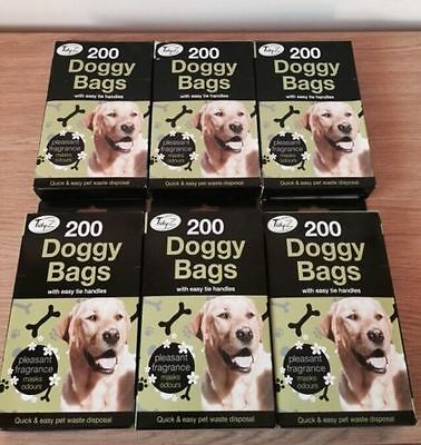 200-1000 Scented Dog Poo Bags Poop Waste With Tie Handles 26cm x 29cm Medium Cat