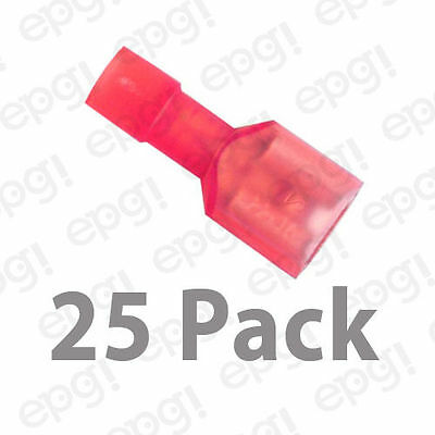 """FEMALE FULLY INSULATED QUICK DISCONNECT TERMINAL NYLON .25"""" RED 22-18g#103C-25PK"""