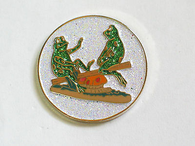Teeter Totter Frogs Pin (#11)