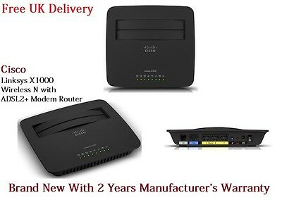 Linksys X1000 All in One Wireless N ADSL2+ Modem Router Wireless for Win & Mac