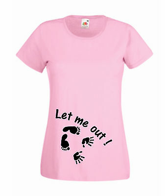 Let Me Out Hands & Feet T Shirt Vest Strappy Top pregnancy maternity Baby