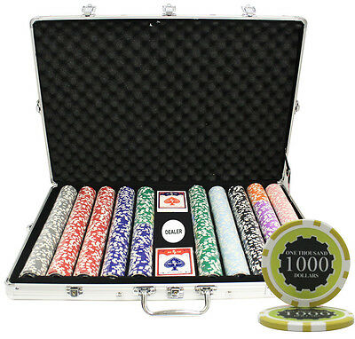 1000 14G Eclipse Casino Table Clay Poker Chips Set Custom Build