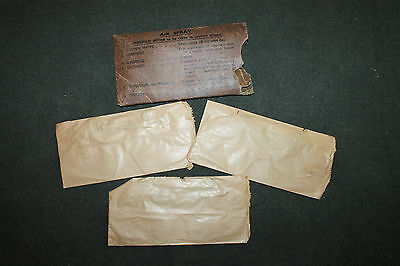 3- Original WW2 British Army Eye Shields Anti Gas MK-lll in Issue Box,1942 dated