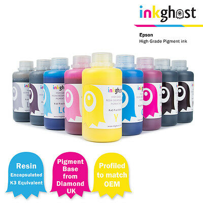 Resin Encapsulated Pigment Ink 250ml, refill compatible with Epson R3000