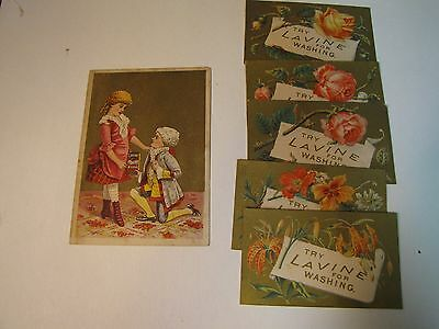 Lavine For Washing Hartford Chemical Co. Conn. Victorian Trade Card & 5 Small