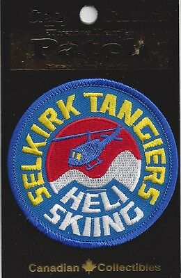 Selkirk Tangiers Heli Skiing, Revelstoke Bc Souvenir Patch -Skiing Snowboarding