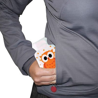 POCKET HOTTY - Orange Owl - Soft Touch Cover Pocket Reusable Hand Warmer **NEW**