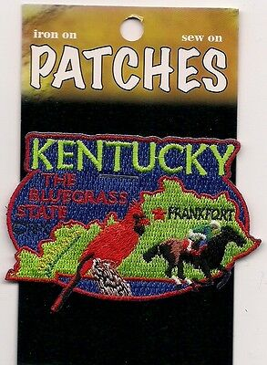 Souvenir Patch- State Of Kentucky - The Blue Grass State