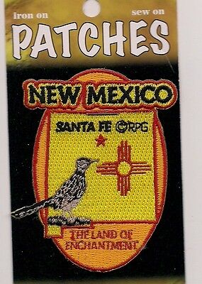 Souvenir Patch - State Of New Mexico - Land Of Enchantment - Santa Fe