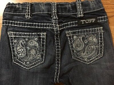 Cowgirl Tuff Jeans Girls Size 7 Bootcut 22.5 Inseam