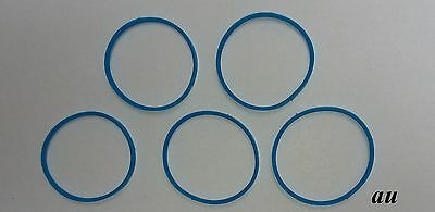 5 PCS Rubber Blue Ring Fir for Shure SM58,Beta58/Beta58A Microphone Grilles
