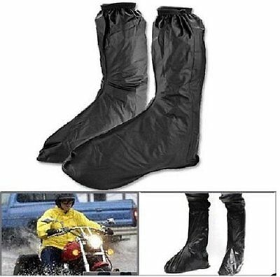 Male Waterproof Rain Shoes Cover Men Rain Gear Rain Boots Flat Overshoes 1 Pair
