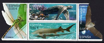 Spain 2015 Protected Fauna  Block 4 MNH