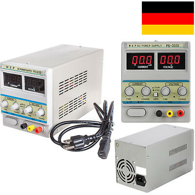 Adjustable Einstellbar Variable 30V 2A DC Power Supply Source d'alimentation DE
