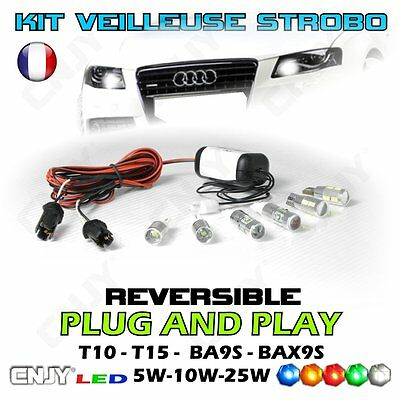 Kit Ampoule Veilleuse Strobo Flash Feux De Penetration Depanneuse Safety Car
