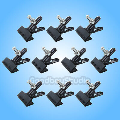 10pcs Photography Studio Photo Light Stand Heavy Duty Clamp Clip Holder