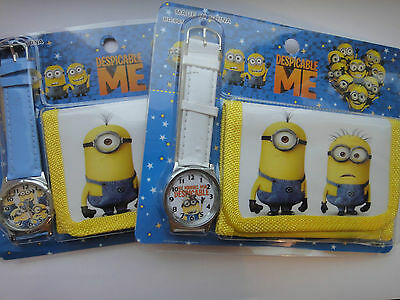 Minions Wallet / Watch Despicable Me Party Bag/Stocking Filler Girls Boys