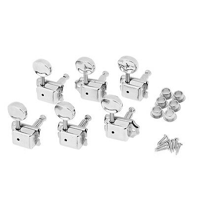Guitar Vintage Tuning Pegs Tuners for Fender Stratocaster Telecaster 6R Sliver