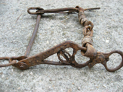Vtg Old Rare Antique Ottoman Empire Hand Made Ornated Horse Mouth Bit Bridle #2