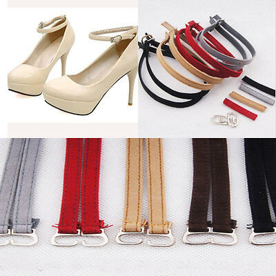Female Comfy Leather Shoe Straps Laces Band for Holding Loose High Heeled Shoes