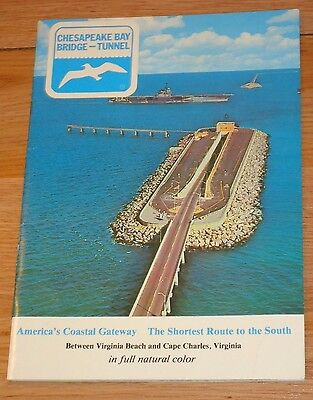 Chesapeake bay Bridge TUNNEL Vintage Booklet 32 pages full color