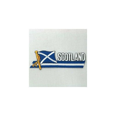 "SCOTLAND ST.ANDREW CROSS COUNTRY FLAG DRAWSTRING KNAPSACK BAG SIZE:14/""X18/"" INCH"