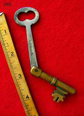 Scarce GENUINE Folding Pat. 1869 Skeleton Key - More Genuine Rare Old Keys Here