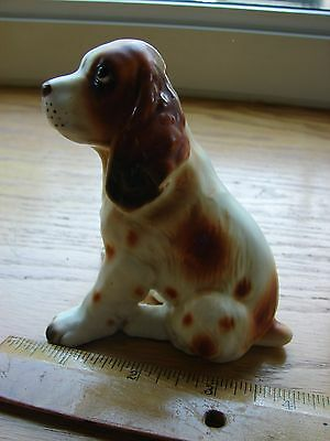 "1950s Lefton Spaniel figurine- paper label Made in Japan- 4"" high- H691"