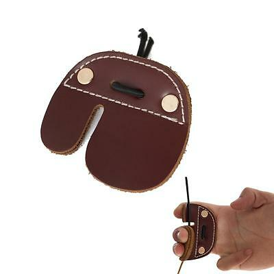 Leather Archery Finger Tab Guard Protector Hunting Shooting Fingerguards Pad RH