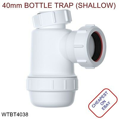 40mm EASI-FLO Shallow Bottle Trap 38mm Seal WTBT4038 *IDEAL FOR KITCHEN SINK*