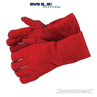 SIlverline Welders Gauntlets Leather Gloves plasma cutting welding weld 282389