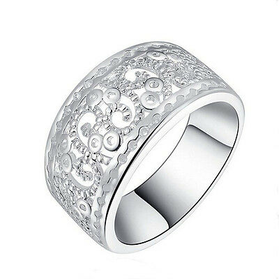 Beautiful Fashion Silver plated CUTE Classic Wedding party Women Ring Sale
