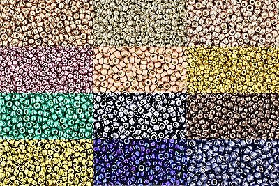 11/0 Toho Round Glass Seed Beads Metallic Galvanized Permanent Finish 10g