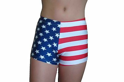Red Monkey Gear spandex shorts stars and stripes