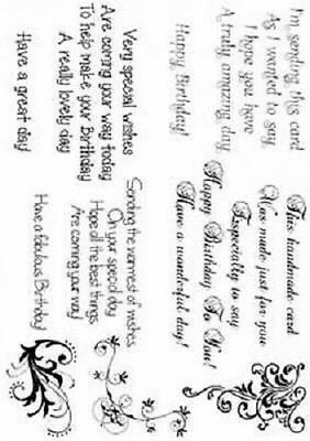 Creative Expressions Birthday Verse Collection Sentimentally Yours Stamps SYBVC